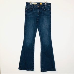 Pilcro Womens Jeans Flare Stet 27 Mid Rise Blue